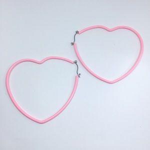 Brand new forever 21 hoop pink earrings